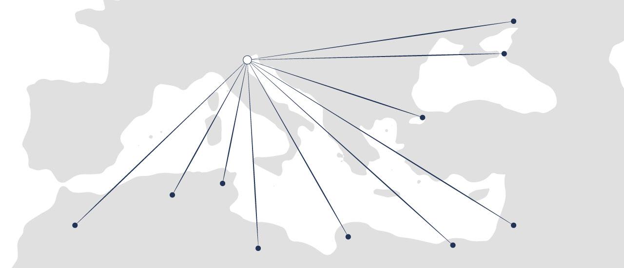 Columbia mappa mediterraneo